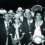 Climent (segundo por la derecha, en primer plano), durante un desfile de inauguración olímpico / Foto: Sevillapress
